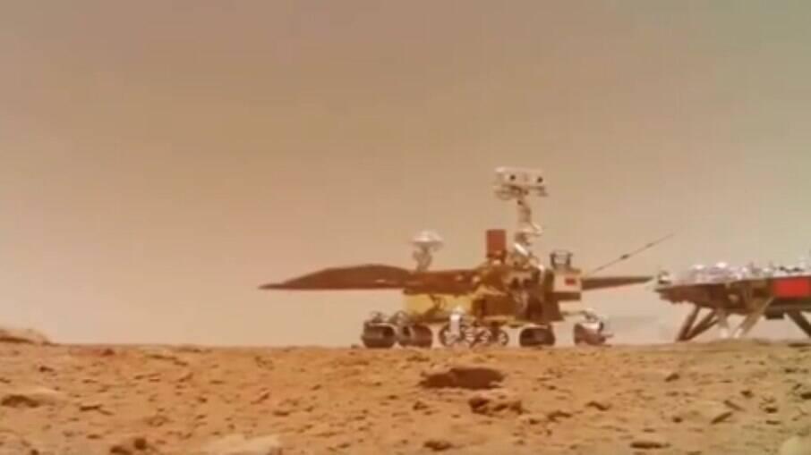 Robô chinês capturou imagens e sons de Marte