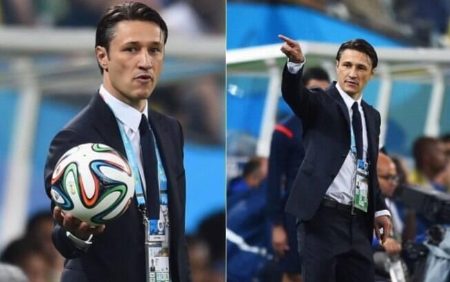 Bem vestido e gato, o técnico Niko Kovac (Croácia) vence os outros colegas treinadores de goleada