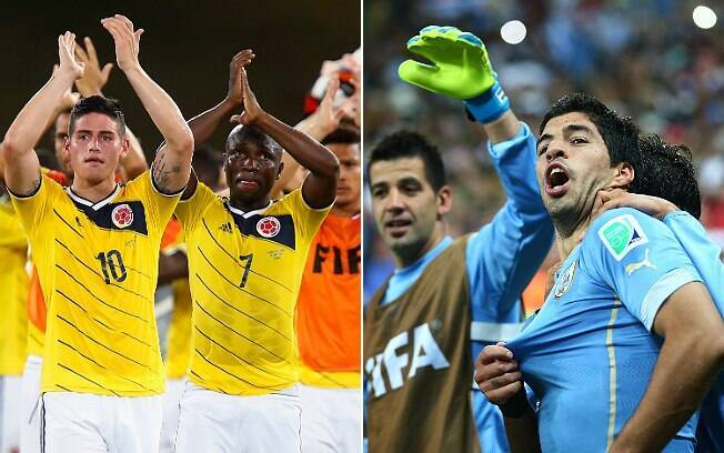 Já Colômbia e Uruguai se enfrentam às 17h, no Rio de Janeiro