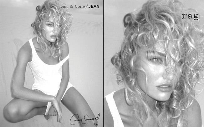 Candice Swanepoel para a marca de jeans