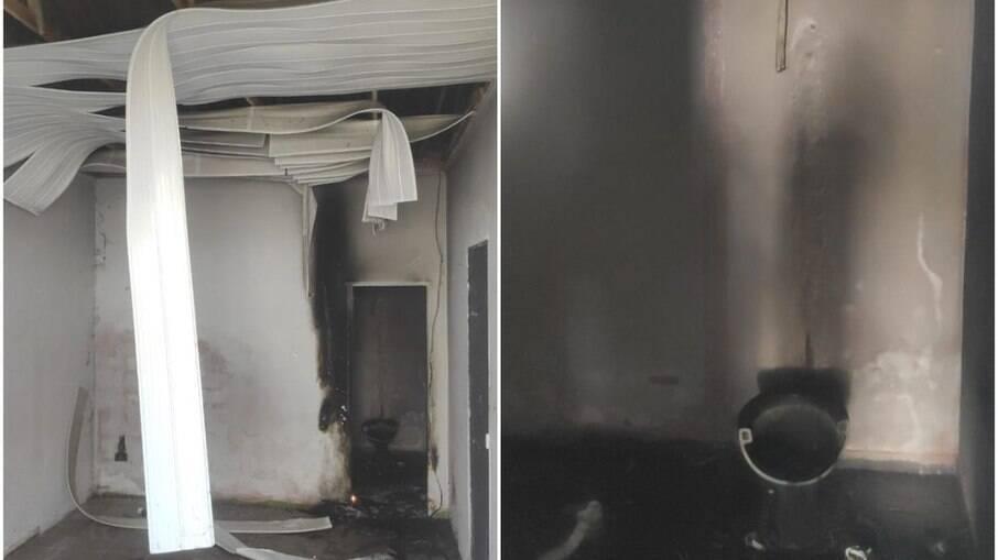 Menina incendiou casa e acabou queimada