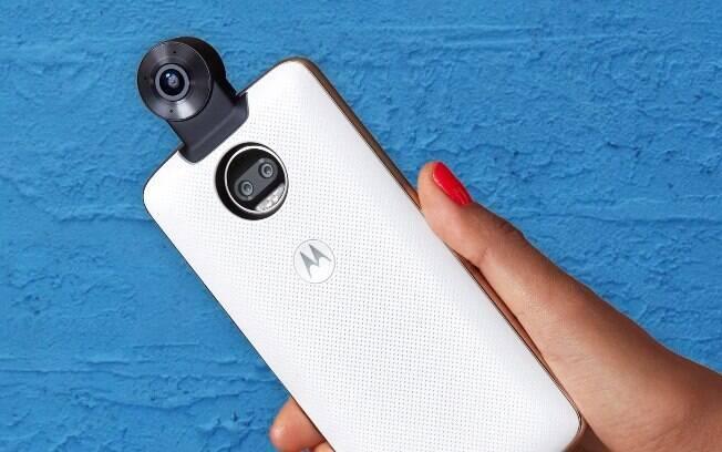 Moto Snap Câmera 360 se junta a linha de módulos para Moto Z, como o Gamepad e o Insta-Share Projector