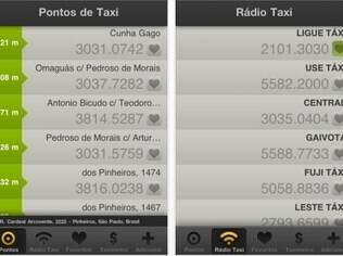 Moove Taxi mostra localização de pontos de táxi