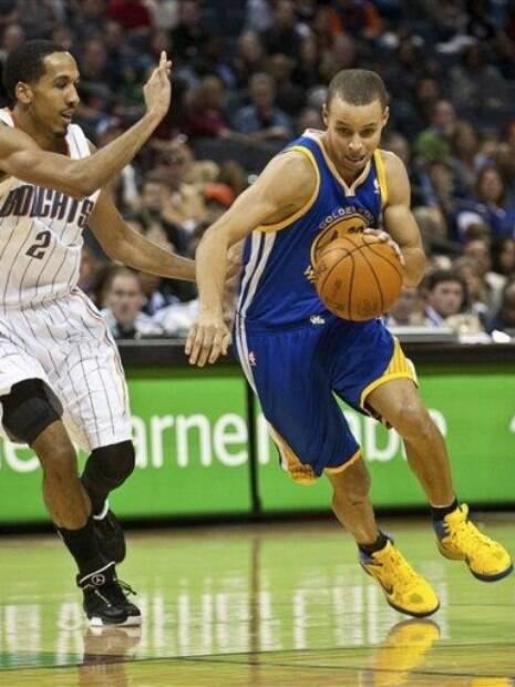 Stephen Curry em sua primeira temporada no Golden State Warriors