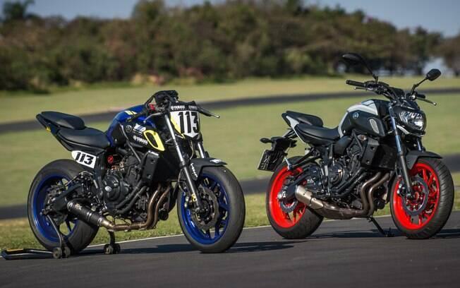 Na comparação visual, vê-se que trata-se mesmo da nossa Yamaha MT-07