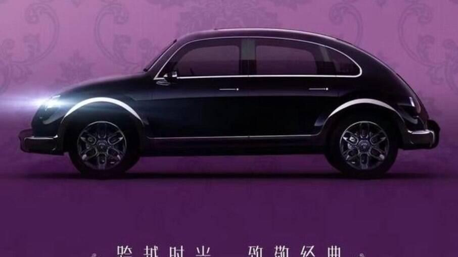 ORA Fusca: invenção chinesa com linhas do clássico da marca alemã, que ainda não se manifestou sobre plágio