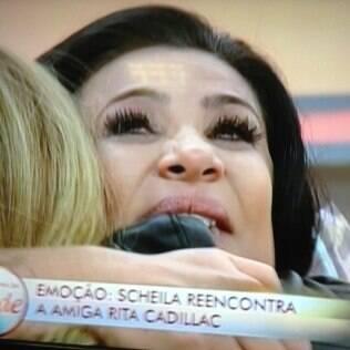 Scheila Carvalho se emociona ao reencontrar Rita Cadillac após deixar 'A Fazenda 6'