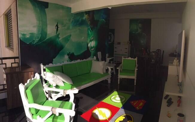 Casas temáticas: o hospede pode aproveitar a viagem para ficar em um local totalmente inspirado na DC e na Marvel