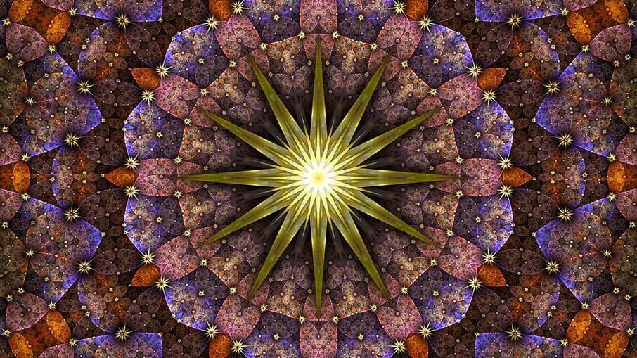 As mandalas do horóscopo do dia são desenhadas pelo astrólogo Marcelo Dalla