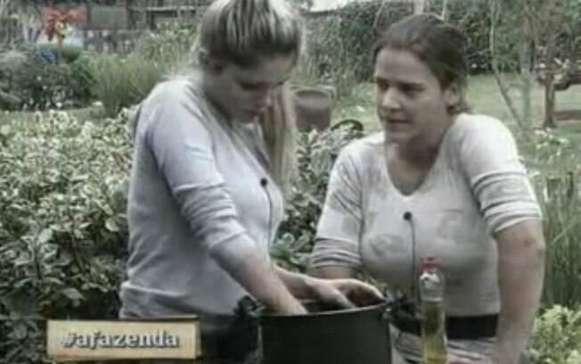 Bárbara Evans e Denise Rocha discutem novamente
