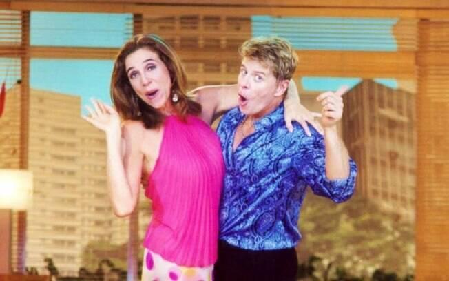 Falabella e Marisa Orth no set de