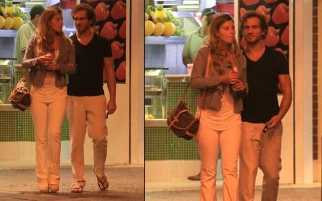 Paulo Rocha e a namorada