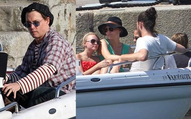 Johnny Depp curte as férias ao lado da família no Sul da França