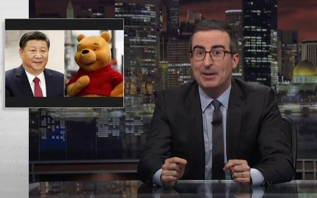 """Após o programa """"Last Week Tonight"""", apresentado por John Oliver na HBO, comparar Xi Jingping, com o personagem animado Ursinho Pooh, o canal foi bloqueado no País"""
