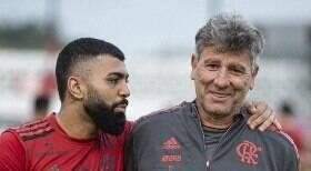 Gabigol alfineta Renato Gaúcho, mas leva invertida