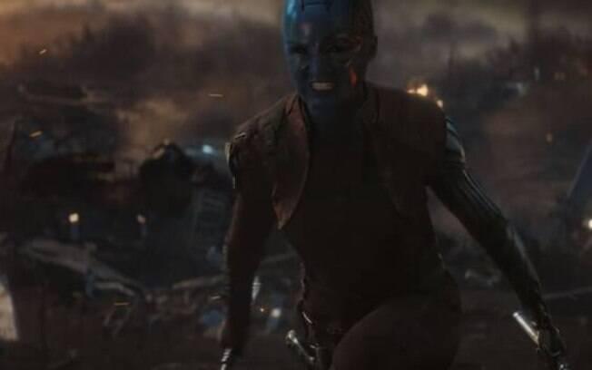 Nebulosa em ação em Vingadores: Ultimato
