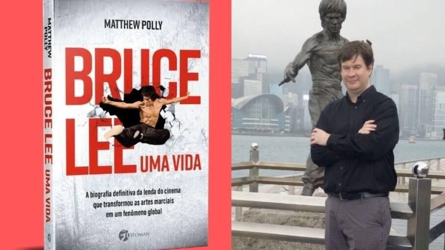 O livro retrata a vida e obra do lutador de artes marciais
