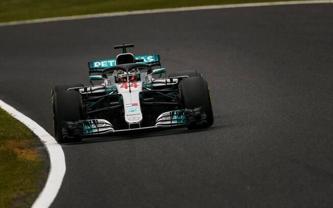 Hamilton foi o mais veloz nos treinos livres para o Grande Prêmio do Japão