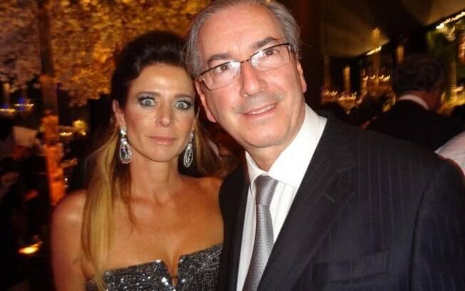 A jornalista Cláudia Cruz e seu marido, o ex-presidente da Câmara dos Deputados Eduardo Cunha (MDB)