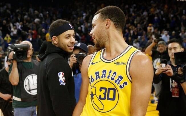 Irmãos Curry foram destaques de Warriors e Blazers na rodada da NBA