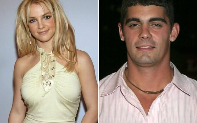 Britney Spears e Jason Alexander, com quem a cantora foi casada por 55 horas