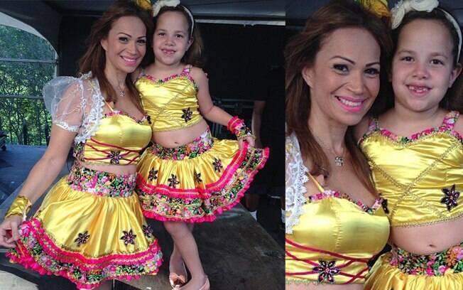 Solange Almeida, que já é mãe de Estrela (foto), Rafael e Sabrina, está grávida pela quarta vez
