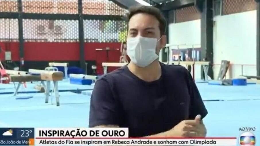 Diego Haidar fez os mesmos saltos de Rebeca Andrade