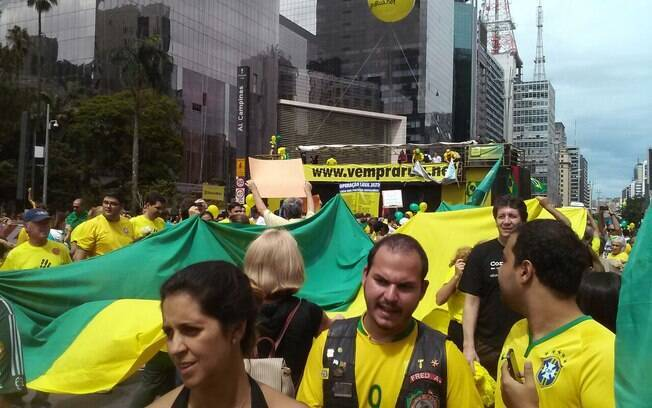 manifestação. Foto: David Shalom/iG São Paulo