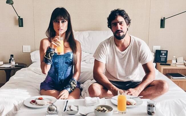 Thaila Ayala e Renato Goés assumiram o relacionamento em novembro do ano passado e estão no maior love!