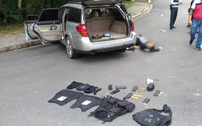 Integrantes de quadrilha foram mortos pela polícia durante tentativa de assalto em Guararema (SP)