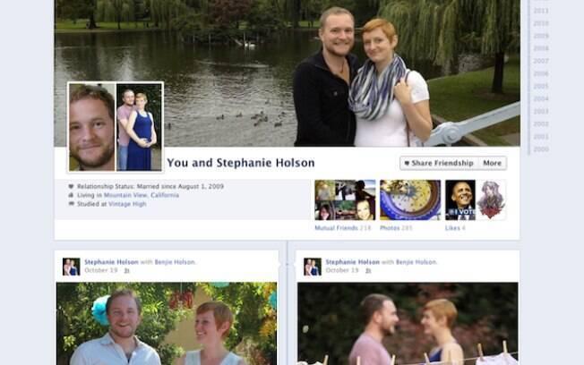 Nova página de amizade do Facebook mostra linha do tempo conjunta de amigos
