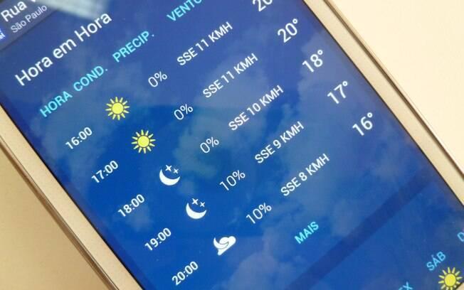 Aplicativos de previsão de tempo ajudam a evitar problemas com mudanças de clima