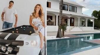 Nicole Bahls mostra sítio luxuoso com 8 quartos que comprou