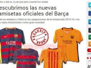 Novos uniformes do barcelona foram divulgados pelo Sport