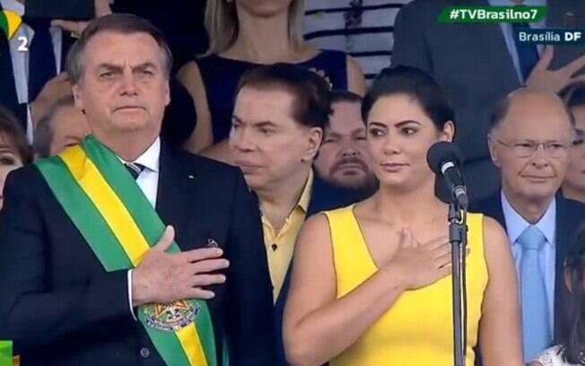 Silvio Santos e Edir Macedo surgem com Bolsonaro em desfile da Independência