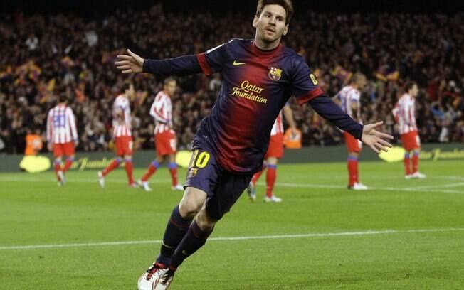 Messi marcou mais dois gols pelo Barcelona