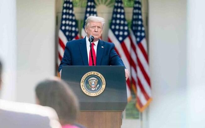 O presidente americano Donald Trump terá uma disputa mais difícil nas eleições por causa da pandemia