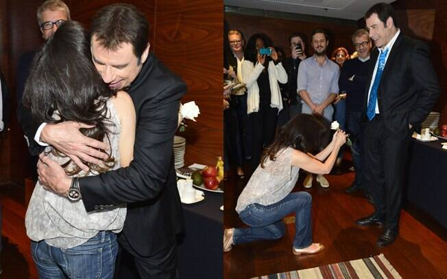 John Travolta curte show de Bebel Gilberto