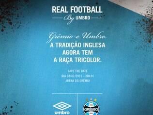Grêmio divulgou imagem em seu perfil no Twitter para anunciar o acerto com a Umbro