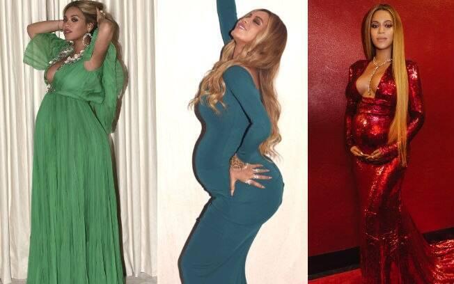 Cantora Beyoncé não ficou presa ao vestido justo, que está super em alta, mas prefere apostar em looks monocromáticos