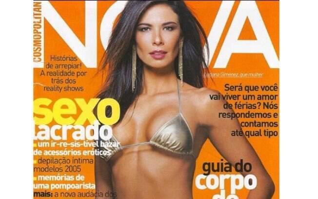 Luciana Gimenez relembrou nesta quinta-feira (04) uma capa da revista Nova em que ela  está estampada e recebeu muitos elogios