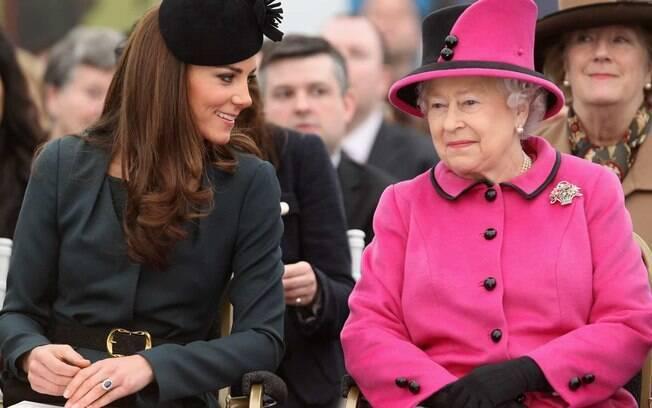 Kate Middleton e Rainha Elizabeth II