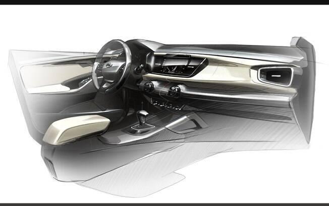 Interior da nova geração do Kia Rio também vai mudar e ficará mais moderno