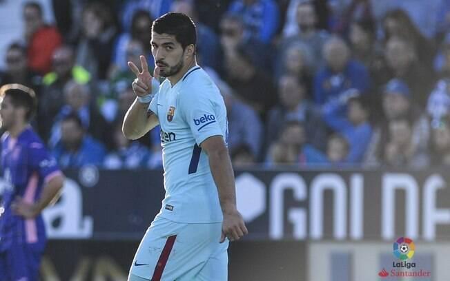 Suárez marcou duas vezes na vitória do Barcelona sobre o Leganés