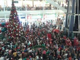 Faltando 40 dias para Natal, Papai Noel desembarca no Shopping Del Rey