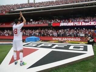Jogo contra o Figueirense no último domingo marcou a despedida de Kaká
