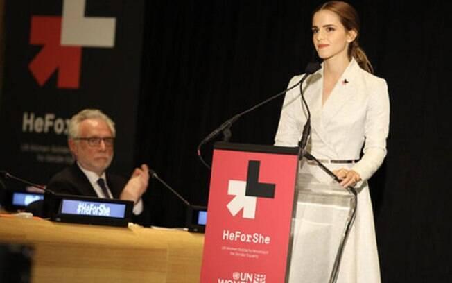 Discursos empoderados: Emma Watson discursou sobre a importância de usar a própria influência na luta por direitos