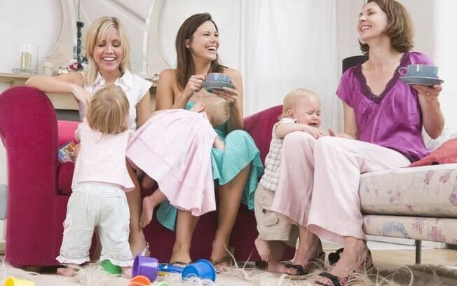 O grupo de mães é positivo quando todas as mulheres entendem que seus filhos não precisam agir do mesmo jeito