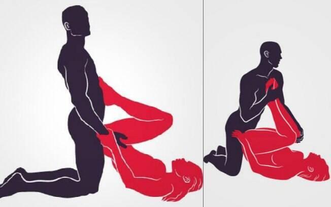 Práticas BDSM: a mulher que gosta de ser submissa deve experimentar a Esposa de Indra (esq) e o Comando de joelhos