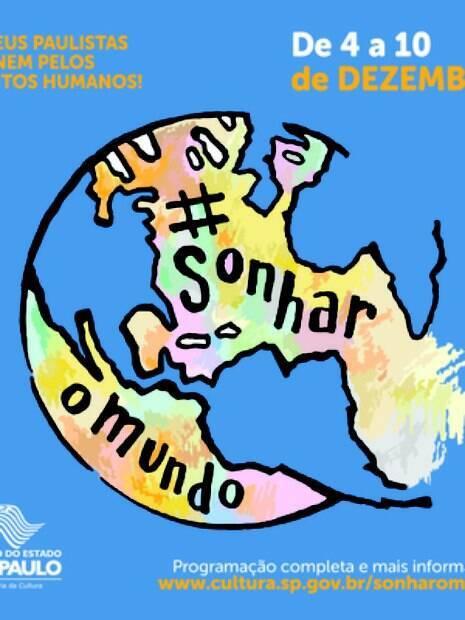 Logotipo da campanha Sonhar o Mundo
